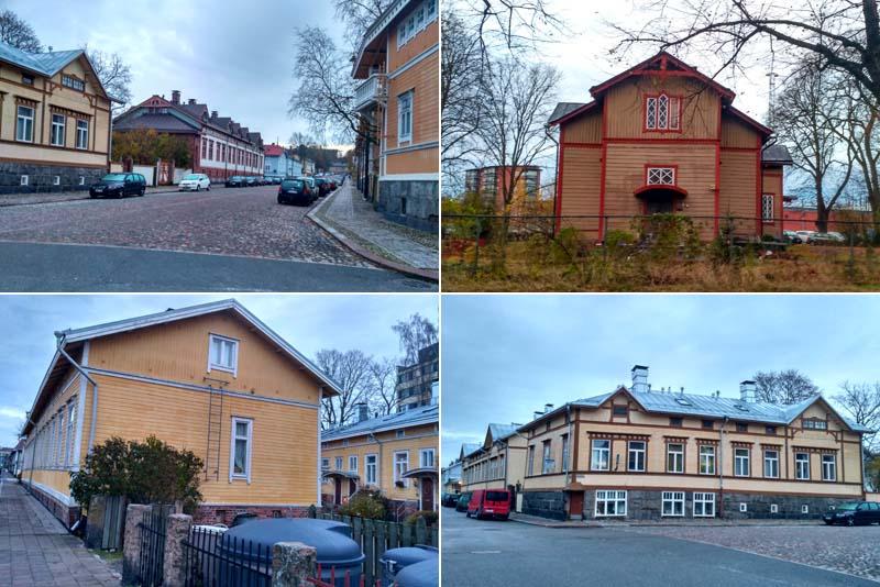 Турку. Деревянные дома