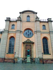 Стокгольм. Кафедральный собор. Памятник Олаусу Петри