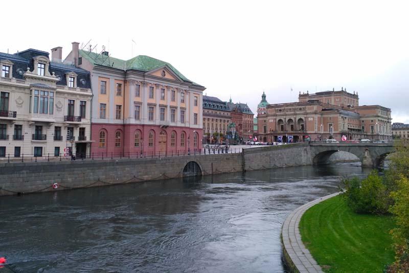 Стокгольм. Вид на оперу и Северный мост