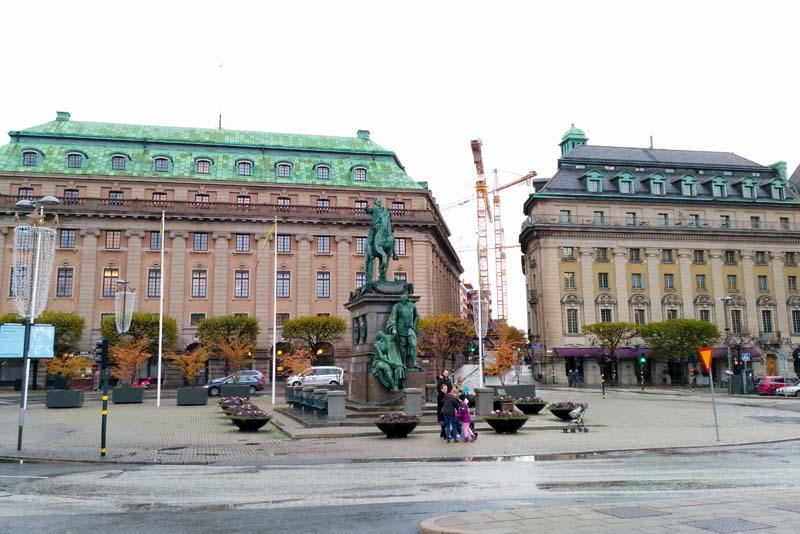 Стокгольм. Площадь Густава II