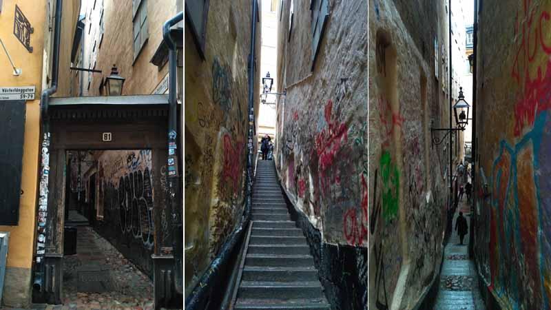 Самая узкая улица Стокгольма — Mårten Trotzigs gränd