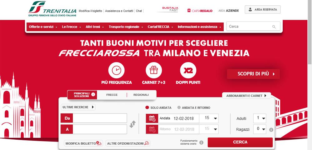 Как купить билет на поезд в Италии. Трениталия /Trenitalia — инструкция