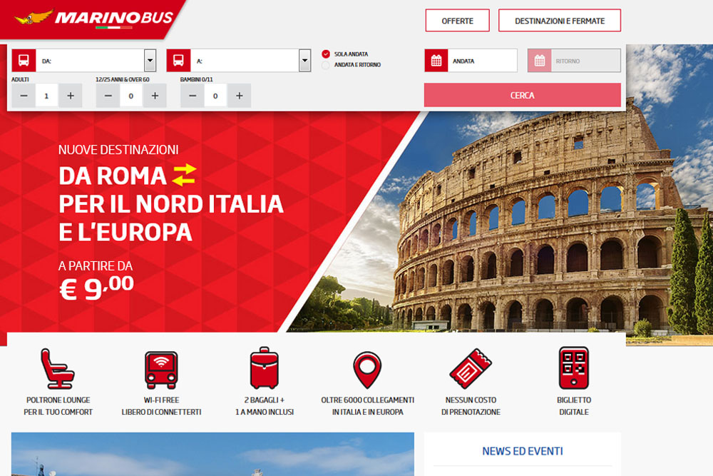 Bus Marino (marinobus.it): как зарегистрировать и купить билеты