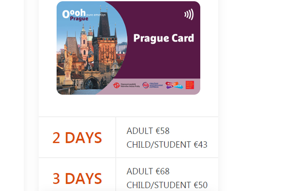 Музейная карта Праги Prague Card