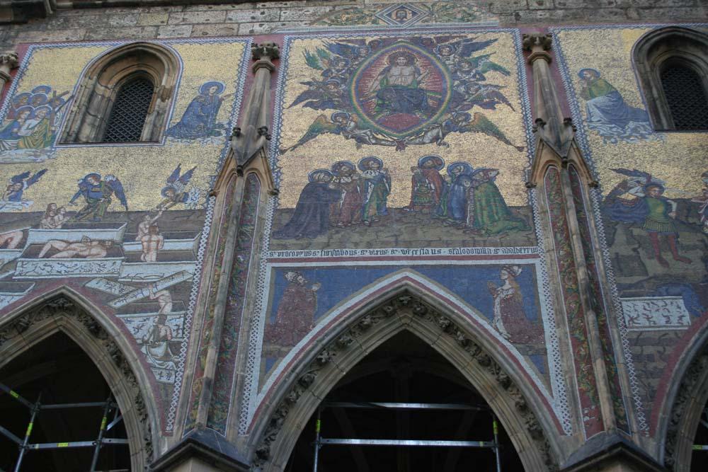 Собор Святого Вита. Мозаика Страшный суд