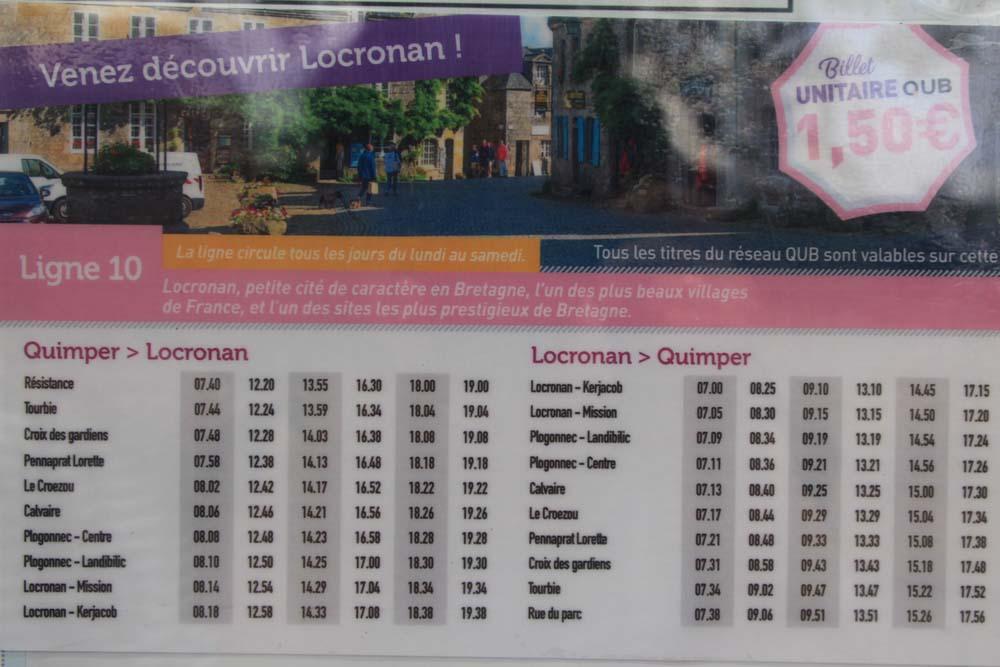 Расписание автобусов Кемпер-Локронан