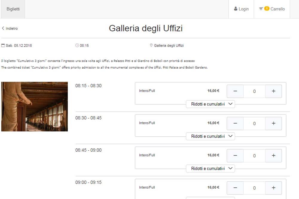 Как купить билеты в галерею Уффици