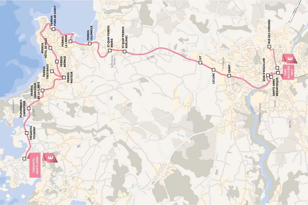 Как добраться в Плуманак, Перос Гирек — на берег розового гранита
