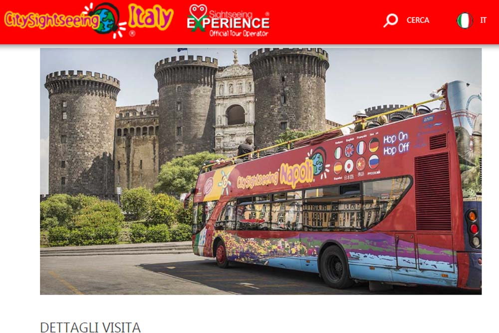 Экскурсионный автобус в Неаполе
