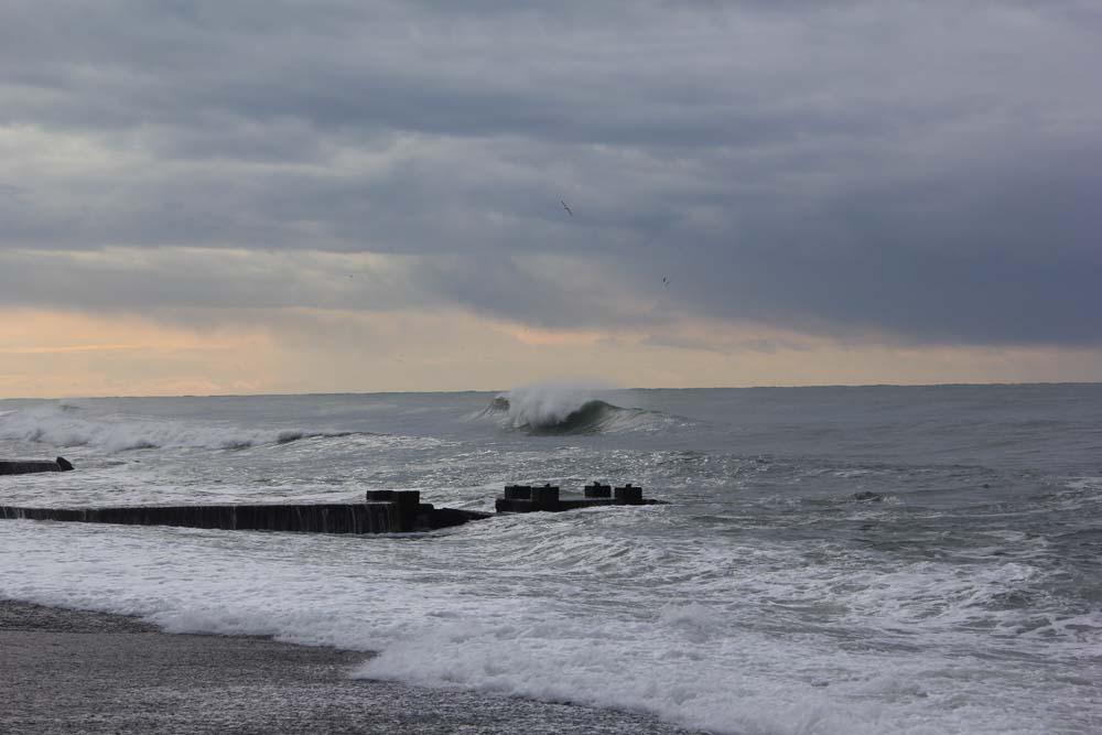 Черное море зимой. Адлер