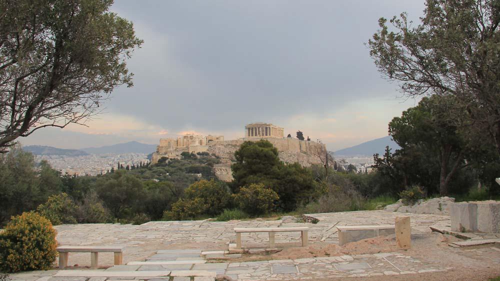 Акрополь. Вид с холма Филопаппа