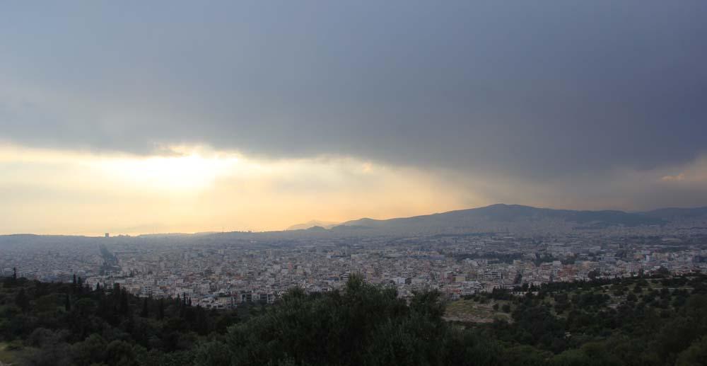 Афины. Вид с холма Филопаппа