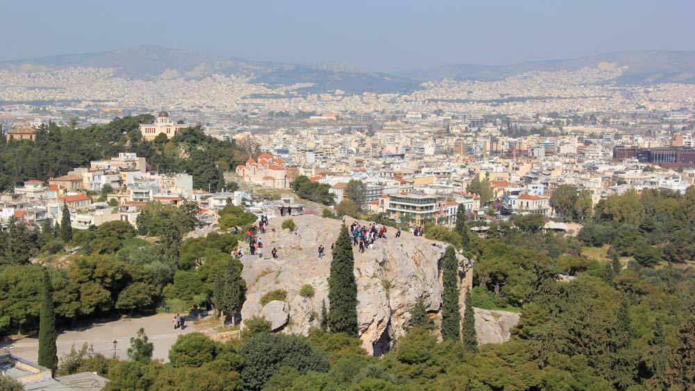 Вид на Ареопаг