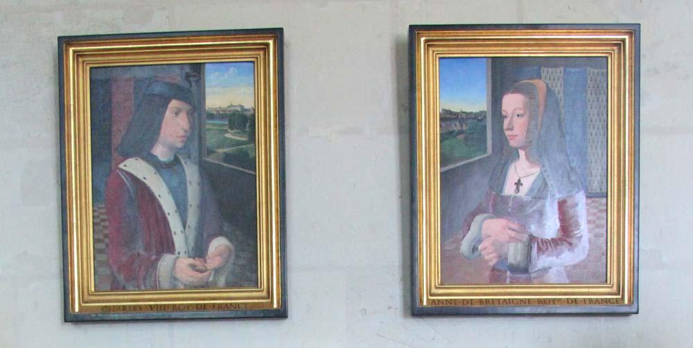 портретыАнны Бретонской иКарлаVIII