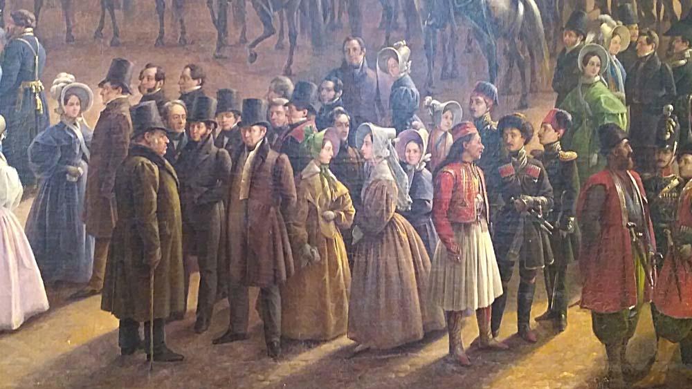 Парад и молебствие по случаю окончания военных действий в Царстве Польском 6 октября 1831 года на Царицыном лугу в Петербурге