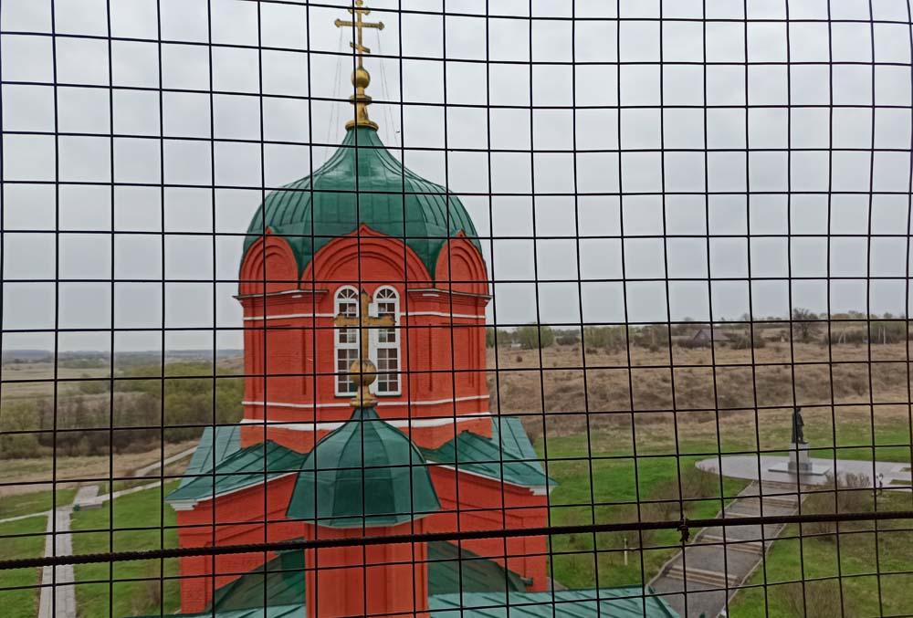 Вид с колокольни. Храм Рождества Пресвятой Богородицы