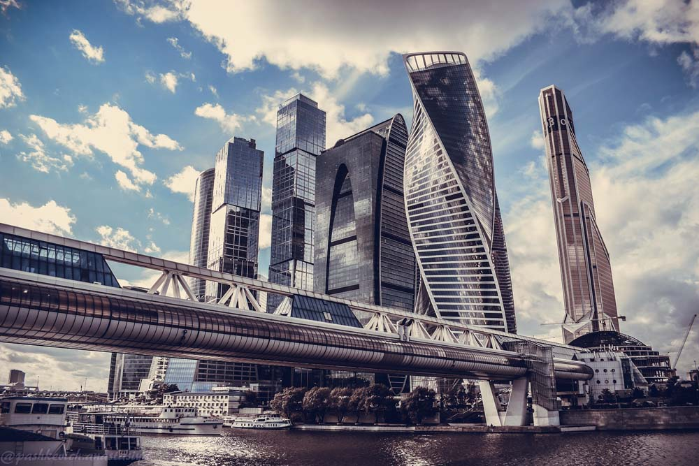 Москва-Сити и мост Багратиона