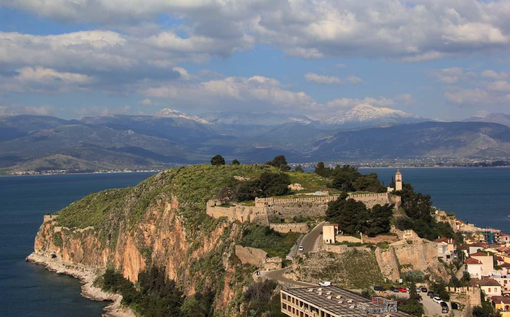 вид на крепость Акронафплия