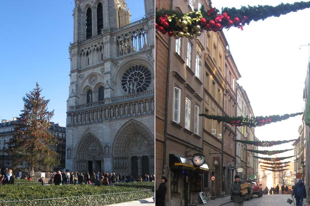 Новый год в Париже и Варшаве