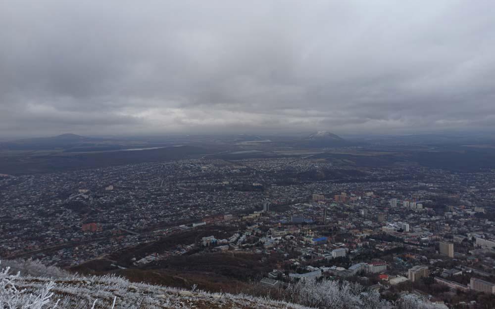 Вид с вершины Машука