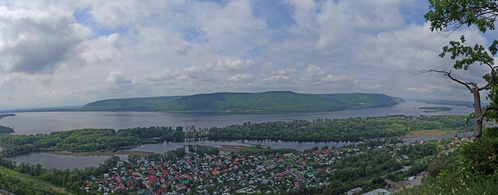 Вид на Жигулевские горы