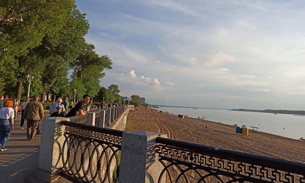 Самарская набережная и пляж