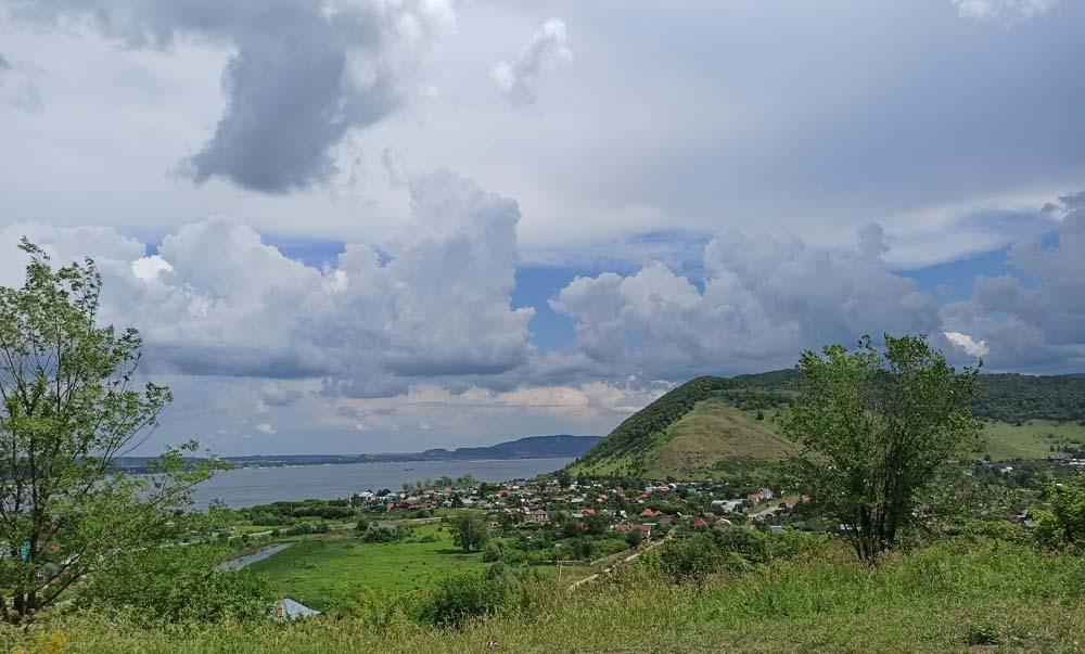вид на Ширяево и гору Монастырскую